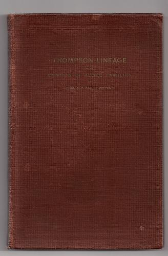 Image for Thompson Lineage With Mention of Allied Families