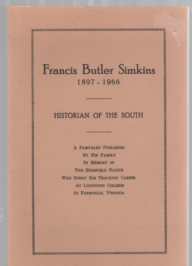 Image for Francis Butler Simkins 1897-1966 Historian of the South