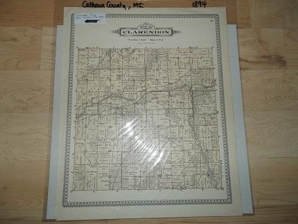 Clarendon Township Calhoun County Michigan 1894 Map