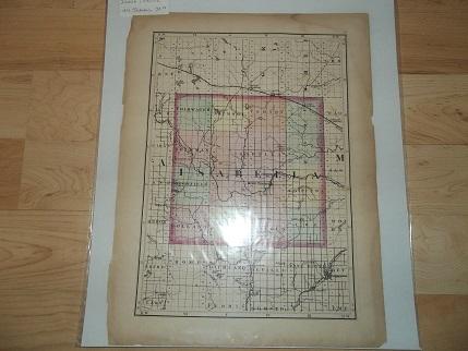 Mecosta Michigan Map.Isabella Mecosta County Michigan 1873 Tackabury Map