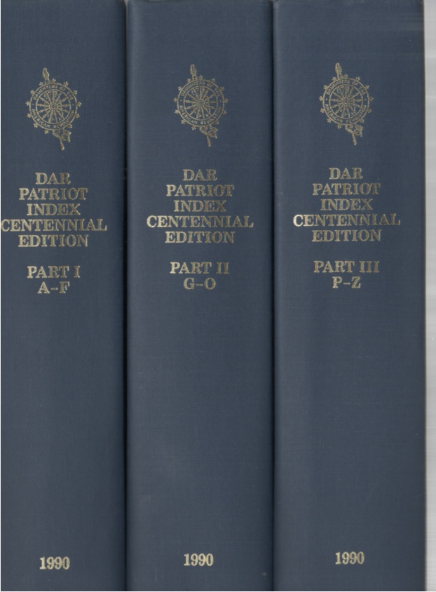 Image for DAR Patriot Index Centennial Edition Part I-Part III