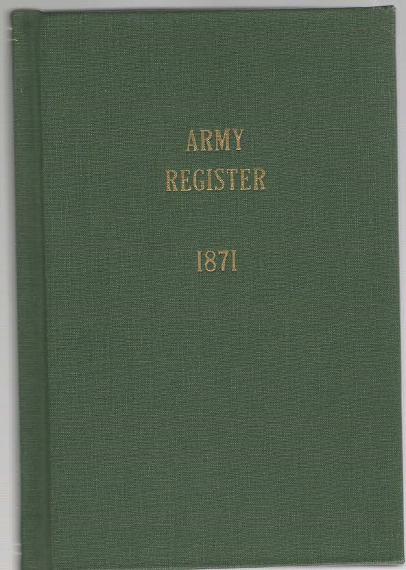 Image for Official Army Register for January, 1871