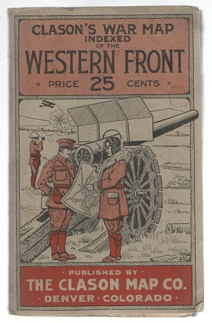 Clason's War Map of the Western Front