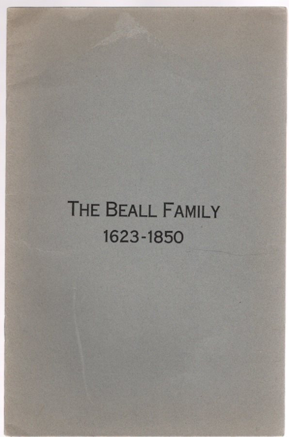 Image for The Beall Family 1623-1850