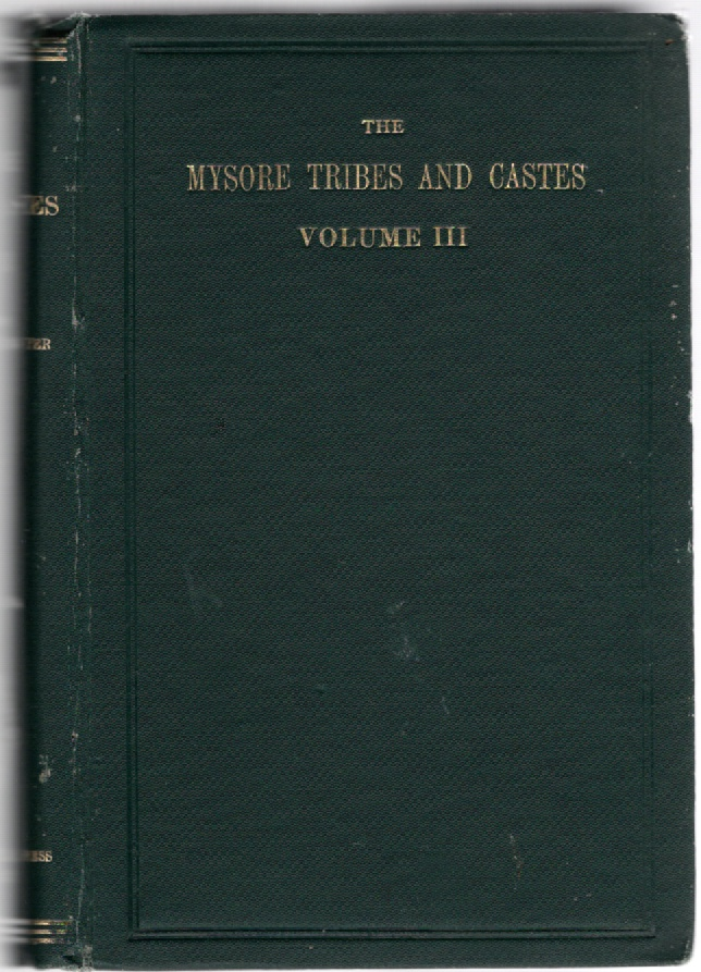 Image for The Mysore Tribes and Castes Volume III