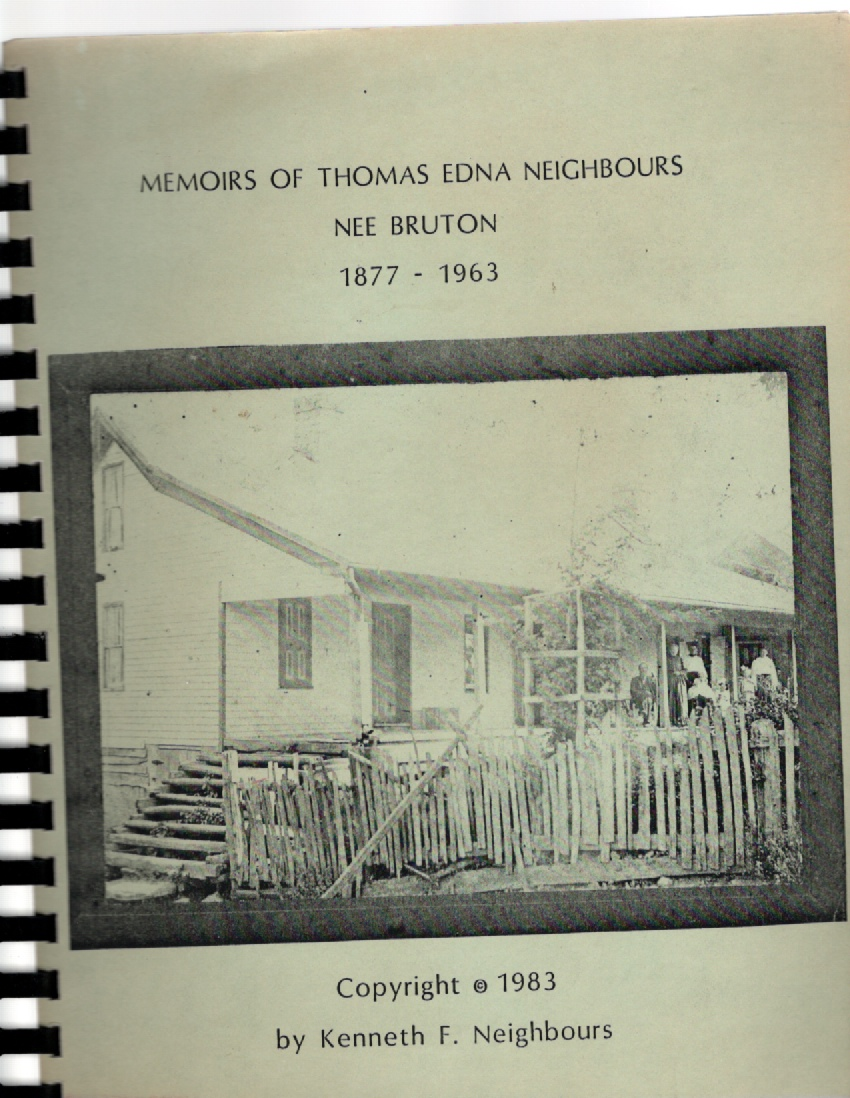 Image for Memoirs of Thomas Edna Neighbours nee Bruton 1877-1963